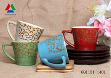 Hot sale ceramic reaction coffee mug china ceramic mug and cups