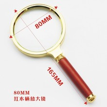 THD Brand 80mm Red Handle Nice Magnifying Glasses Office Use High Quality Glass Comfortable Grip