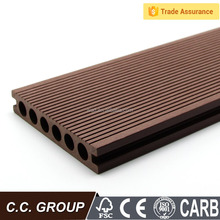 waterproof cheap hollow wood laminate deck flooring/cheap wood plastic composite decking material