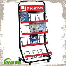 Newspaper Magazine Books Metal wire Display Stand Shelf Racks