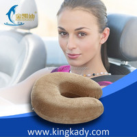 KINGKADY Portable Neck Travel Animal Pattern Pillow,Best Memory Foam Neck Pillow for Travel with Luxury Plush Velvet cover