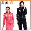 2015 new latest design sports china cheap fashion velour tracksuits for lady