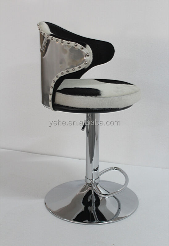 Bar Stool High Quality Bar Stool Cowhide Leather Bar Stool