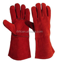 "14""/16'' long leather tig welding gloves supplier/Cow Split Leather welding gloves kevlar, Kevlar welding gloves price"