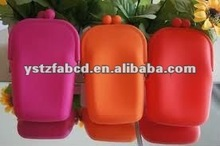 Fashion 2012 Soft Folding Silicone Cell Phone Bags Pouches