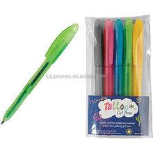 tattoo gel pen 5pack ; ink pen refills; ink pen stylus(LU-Q27984)