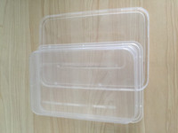 High quality FDA standard 650ml disposable plastic PP microwave food packaging container