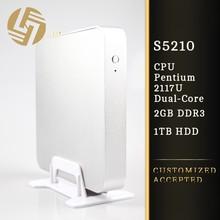 High resolution hd 1080p dual core mini pc htpc case