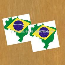 2014 World Cup Flag Logo Tattoo Temp Brazil Football