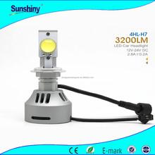 Super bright headlight for chery 12v 24w h7 H8 H10 H11 12V 24V led headlight for motorcycle