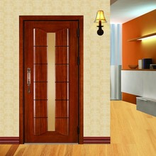 Latest design bullet security stainless steel wooden mixed structured metal exterior security armored door
