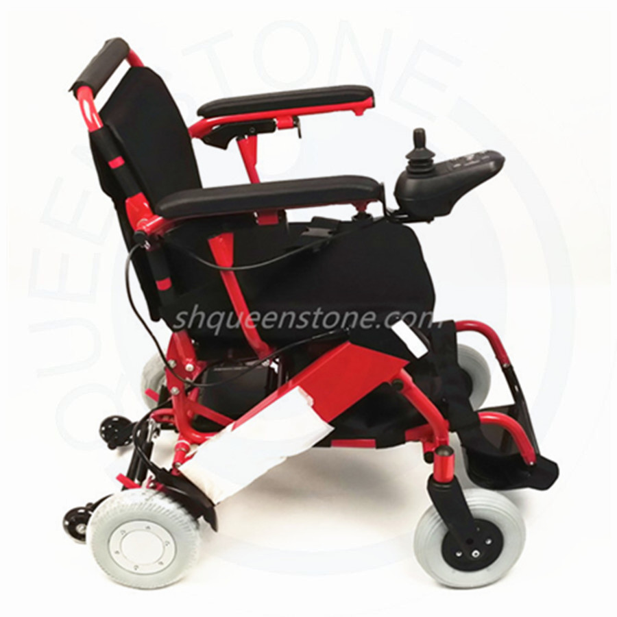 2015 Compact Electric Wheelchairs Folding With Rubber Pu