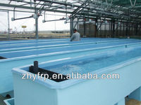 FRP fish tank for indoor fish farm, fiberglass fish tanks