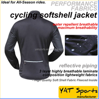 Winter Cycling brushed fleece Jacket Custom cutting panel sports apparel Thermal clothing Softshell Cycling Jacket
