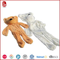 2016 new products soft stuffed teddy bear plush skins soft toys wholesale China manufacture