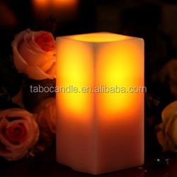 white square pillar led candle / ivory fashion square led candle / white candle manufacturer