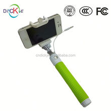 Aluminium selfie stick with cable selfie monopod stick handheld