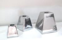 Small aluminum beuatiful cheap metal candle holder