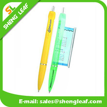 Solid color transparent color all accepted flag ballpens