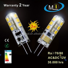 high lumen G4 led bulb led lamp, led light AC/DC12V 3W, SMD 24L2835