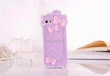 New Cute Bow Silicone Case Cover 3D Design for iPhone 5 5s / 5c/ 4 / 4s / Case