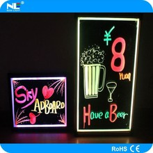 low price led board writing for advertising , magice led writing board , we are manufacturer to make led writing board