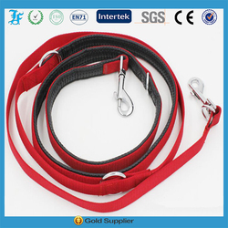 Foam nylon trainning double dog leash lead dog products