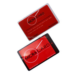 tailor making microfiber screen cleaner with business card