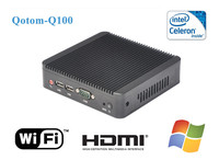 mini pc windows xp Qotom-Q100 2g ram 8g ssd/hdd, intel celeron 1037u dual core desktop mini pc cpu