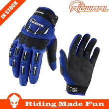 RIGWARL High Quality Motorcycle & Auto Racing Blue Racing Motorcycling Gloves With OEM Serice