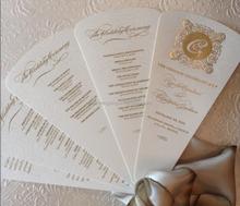 hot foiling Wedding Program Fans Ideas