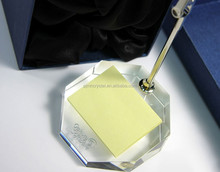 crystal business name card holder with transparent base MH-MP011