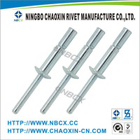 DIN 7337 Open Type Aluminum Blind Rivets with High Quality and Many Sizes