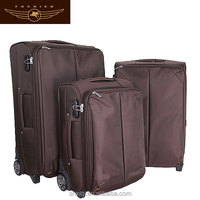 600D travel luggage suitcase/trolley luggage bag with expandable