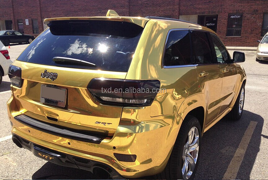 Gold Chrome Wrap Chrome Mirror Film Gold