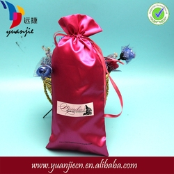 Newest promotional gift packing pag,satin hair bags logo