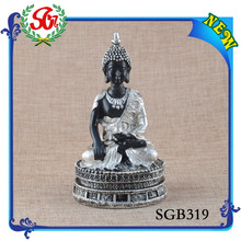 SGB319 Custom Promotional Top Quality Silver And Black Wooden Buddha