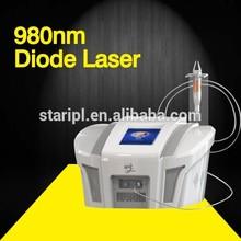 Alta frenquency diodo láser laser araña vena de eliminación de la máquina / laser eliminación vascular / máquina de láser