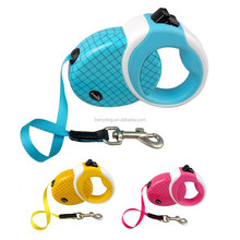 Grid pattern dog retractable leash 3M 5M retractable leash for dogs