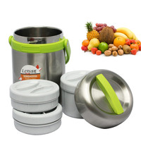 round vacuum food grade stainless steel container
