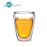 high borosilicate glassware double wall glass cup 300ml capacity DC294 ML Glass