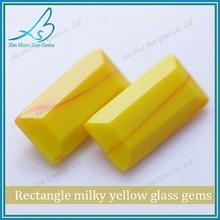 Spécial laiteuse verre jaune rectangle gems