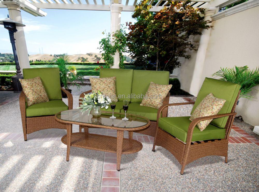 P tio mobili rio de jardim sof de vime rattan pl stico for Mobiliario de patio