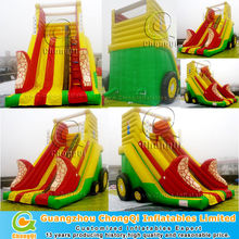 new latest style large fun slide/commercial inflatable slide
