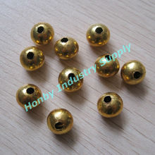 Fancy Jewelry Spacer 10mm Hollow Gold Round Metal Beads