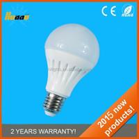 2015 new A60 aluminum + plastic LED bulb, 5W 7W 10W CE with 2years warranty