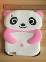 2015 Cute 3D Cartoon Soft Silicone Panda Back Case Cover for iPad 2 3 4