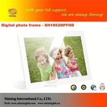 SH1852DPFHD digital picture frame inbuilt memory and battery