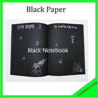 A3 black colored paper for black drawing paper/Notebook
