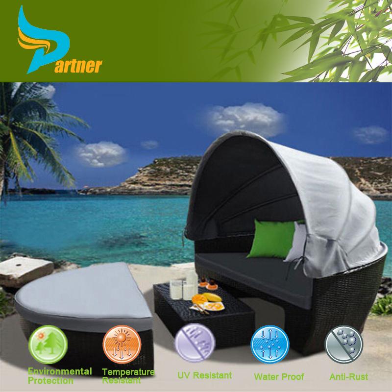 Leisure Ways Patio Furniture Rattan Sun Bed Sun Lounger